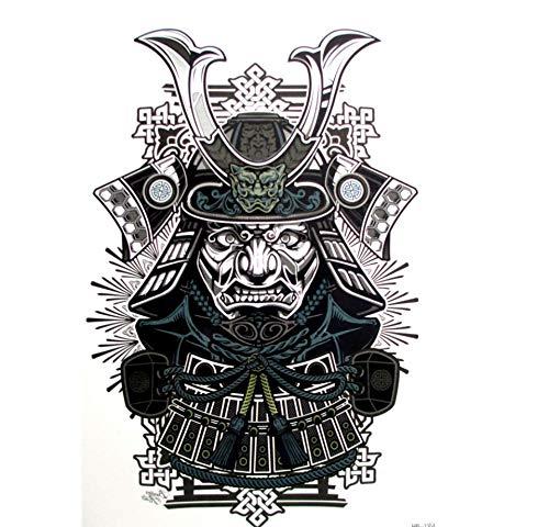 ruofengpuzi 4Pcs Sexy Kühle Japanische Samurai-Krieger Tattoo Tattoo 21 X 15 cm Wasserdicht Temporäre Tätowierung-Aufkleber