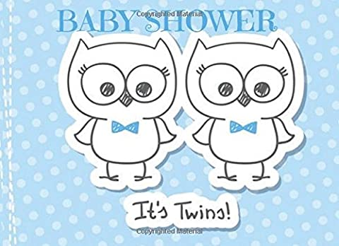 Baby Shower It's Twins: Boys Message Book, Memory Journal, Guestbook,