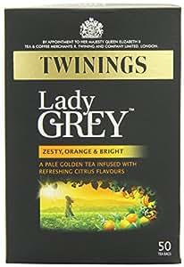 Twinings - 50 x Sachets de Thé Lady Grey - 125g