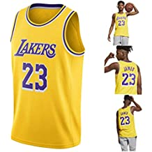 YAVATA Lebron James, 18-19 NO.23 Lakers Retro, Camiseta de Jugador