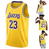 Lebron James,18-19 NO.23 Retro Lakers, Basketball Player Jersey,Breathable and Wear-Resistant Embroidery,Boys Men Fans Jersey
