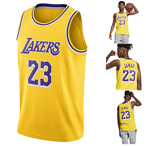 YAVATA Lebron James, 18-19 NO.23 Lakers Retro, Camiseta