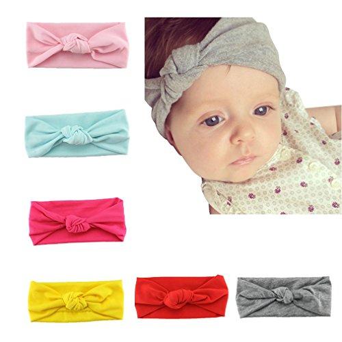 Baby Headbands, HBF 6Pcs Mix Color Non Slip Baby Girl Headbands Cute Elastic Headband Turban