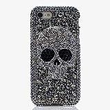 Custodie in Cristallo Freddo Skull Skeleton Bling per Huawei P30 P20 Lite P30 Pro P10 Lite Y5 Y6 2019