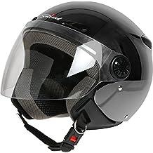 Scotland 120013 Titop xs- Casco de moto con visera, color titanio mate, talla 61–62(XL)