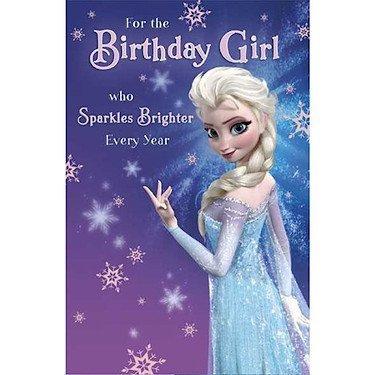 Disney - Frozen: El Reino del Nielo - Tarjeta de cumpleaños in Inglés de Carlton Cards