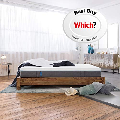 Emma Original EU King Size Mattress 160x200 cm 25 cm high Memory Foam Mattress Which? Best Buy 2018 and 2019 Mattress I Good Housekeeping Institute Approved 2018 I 100 Nights trial I 10 years warranty