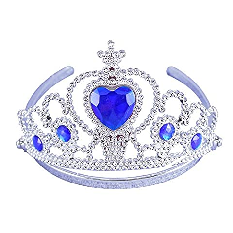The Best Girls Tiara Proms Safe Trains Princess Party Crown Birthday - Blue - One size