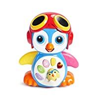 KONIG KIDS Smart Swing Penguin Education Toy Music And Dancing Mode For Baby 6 Months +