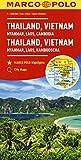 Thailandia, Vietnam. Myanmar, Laos, Cambogia 1:2.500.000. Ediz. multilingue