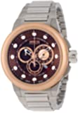 Invicta Specialty Swiss Made Men's Quartz Watch with Antique Dial Chronograph Display and Stainless Steel Bracelet