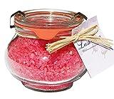 Wellness Badesalz Totes Meer Granatapfel im Glas, Badezusatz im Weck Schmuckglas 250 g
