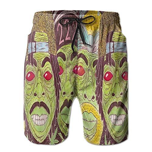 Troncos de natación de Verano para Hombres Scary Zombies Robber Bañador para Correr de Secado rápido...