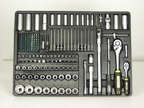 Mannesmann 321-teiliger Werkstattwagen komplett befüllt mit Werkzeugen in 6 Schubladen, M28270 - 8