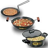 Futura Hard Anodised Cookware Set No 4: (contains L53, L18 & L62) (LS5) (HWS_LS5_BLK Bl