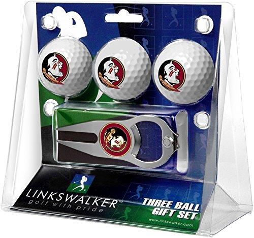 LinksWalker 3Florida State seminoles-3Ball Geschenk Pack mit Hat Trick Pitchgabel, Weiß, One size
