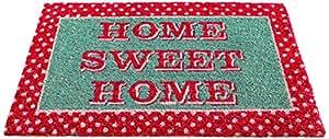 Gardman 82661 Paillasson Vintage Home Fibres de Coco avec Dossier en PVC 45 x 75 cm