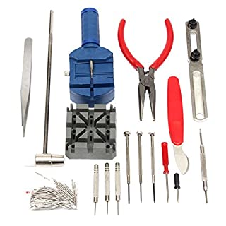 ChaRLes 124Pcs Repair Tool Kit Back Case Opener Remover Spring Pin Bar Watchmaker