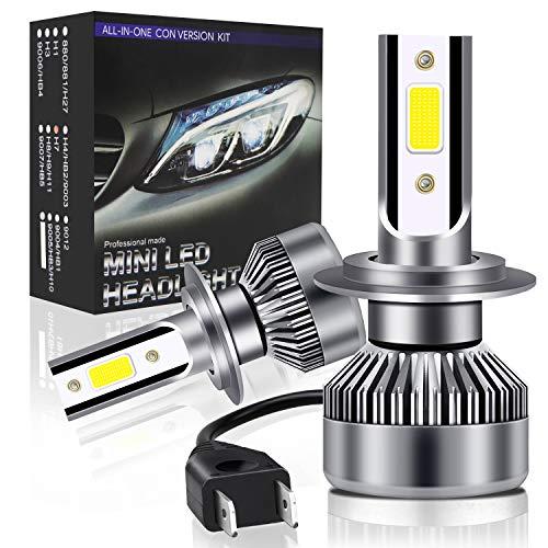 Lampadine H7 LED 6000LM 36W,Oladwolf Lampade per Auto Luci,Kit Lampadina Sostituzione per Alogena Lampada e Xenon Bianco,6000K Estremamente Luminoso CSP Chips,9V-36V,Fari Abbaglianti o Anabbaglianti
