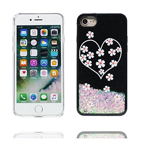 iPhone 7 Plus Custodia, iPhone 7 Plus Copertura 5.5, Glitter dinamico fluido Fantasy Shiny Case Cover Glitter trasparente in plastica 3D Glitter - unicorno unicorn # # 6