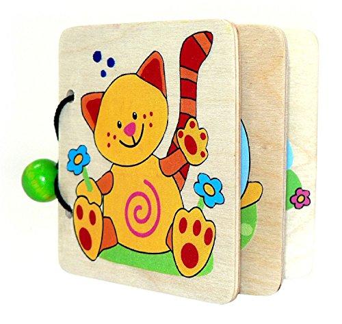 Hess Holzspielzeug 14304 Bilderbuch Tiere aus Holz, 9 cm