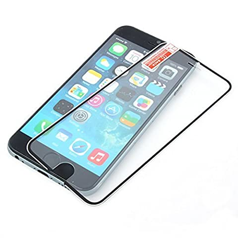 Stargift® Vitre protection d'écran intégrale en verre trempé pour iPhone 6 et 6 S, NOIR, HAUTE QUALITÉ (9H) film protecteur full cover ultra