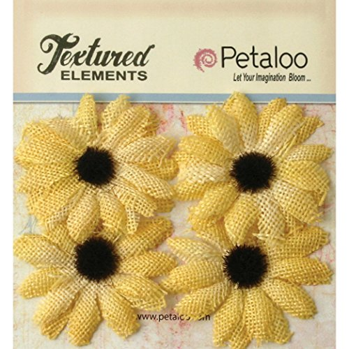 Petaloo Textured Elements Burlap Sunflowers 2\