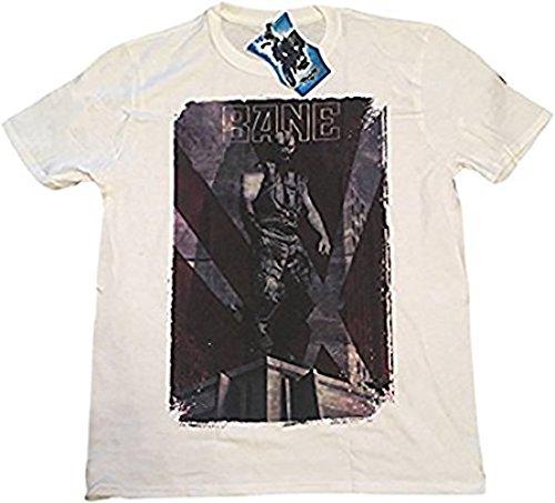 BATMAN - Bane - Camiseta Oficial Hombre - Blanco, X-Large