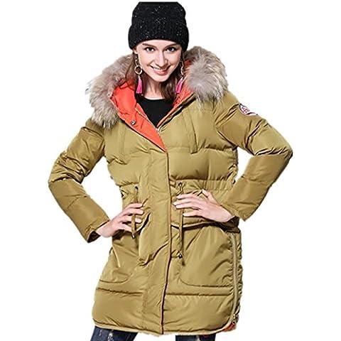 XYXY Donne giù alternativa cappotto con pelliccia