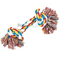 PawCloud Natural Cotton Chew Rope Dog Toy| for Small Dog Breeds | 8 inches | Small| Multicolor