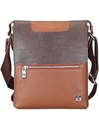 Adamis Men's Genuine Leather Cross-Body / Sling Bag For I Pad