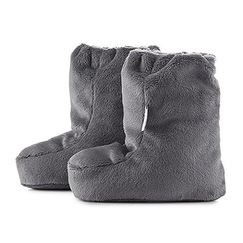 MayLily® Premium | SUPERCAT L Winter Krabbelschuhe Weiche & Warme für Super Baby Neugeborene kleine Kinder | 3-12 Monate | 100% Minky | Antiallergische Füllung | Made in EU | In vielen Farben G