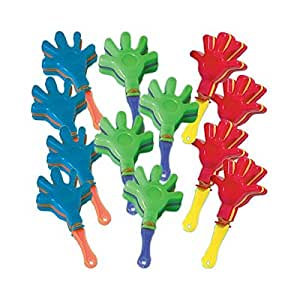 Amscan International Favour Mini Hand Clapper, Pack of 12