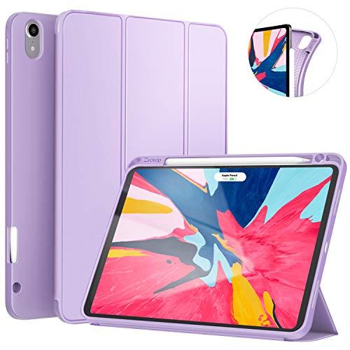 Ztotop Hülle für iPad Pro 11 Zoll 2018, Ultradünne Smart Cover Schutzhülle mit Stifthalter, Automatischem Schlaf/Aufwach, Unterstützt Das Aufladen des iPad Pencil, für iPad Pro 11 2018 - Lila