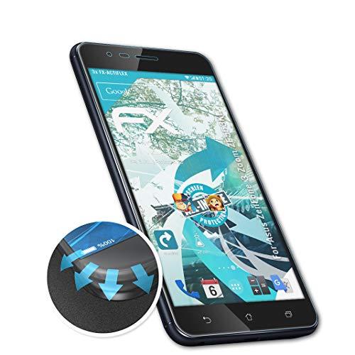 atFolix Schutzfolie passend für Asus ZenFone 3 Zoom ZE553KL / ZenFone Zoom S Folie, ultraklare & Flexible FX Bildschirmschutzfolie (3X)