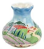 "Old Tupton Ware Art Deco ""Tuscan Fields"" Design 3"" Vase"