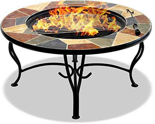 Centurion Supporta Fireology Santiago Magnifico Giardino e terrazza Fire Pit Brazier/tavolino/Barbecue/Secchiello per Il Ghiaccio–Crazy Paving Finitura Granito