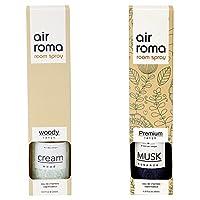 AirRoma Combo of Musk Fragrance Air Freshener Spray 200 ml & Cream Wood Fragrance Air Freshener Spray 200 ml
