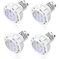 Liqoo Lampadina 4 Pezzi Lampadine LED GU10 7W Riflettore Luce