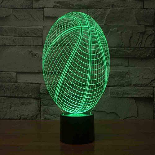 Usb 3D Led Nachtlicht 7 Farbwechsel Nachtlicht Berührungssensor Atmosphäre Tischlampe Nachttisch Illusion Projektor Basketball Team Fernbedienung