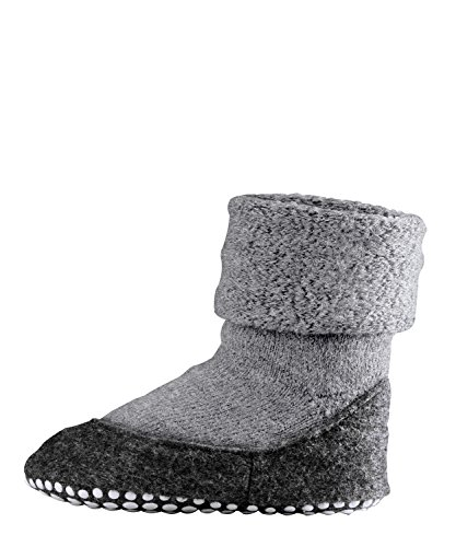 FALKE Kinder Socken Cosyshoe rutschfeste Haussocken, Grau (light grey), 35-36