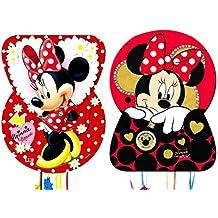 CAPRILO Set de 2 Piñatas Disney Minnie Complementos. Juguetes y Regalos Fiestas de Cumpleaños,