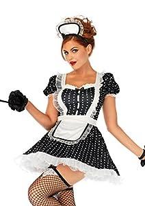 Leg Avenue- Mujer, Color Negro Blanco, XL (EUR 44-46) (86668 00704-007-XL)