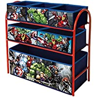 Marvel Avengers Toy Storage Unit Box Organiser Metal Multi Tray (2018 model) - Kids Bedroom Playroom Furniture