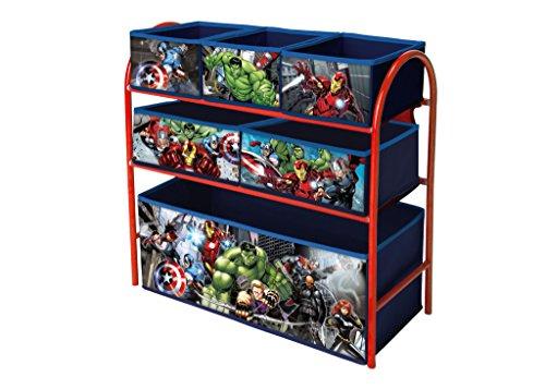 Caja de metal para juguetes con compartimentos Avengers