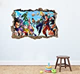 Dragon Ball Z Crew Wandtattoo Home Decor Kinder Schlafzimmer Kinderzimmer Spielzimmer Wandbild Aufkleber 75 x 50 cm Abziehen und Aufkleben
