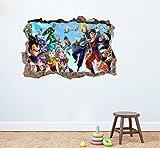 Dragon Ball Z Crew Wandtattoo Home Decor Kinder Schlafzimmer Kinderzimmer Spielzimmer Wandbild Aufkleber 75x 50cm Abziehen und Aufkleben