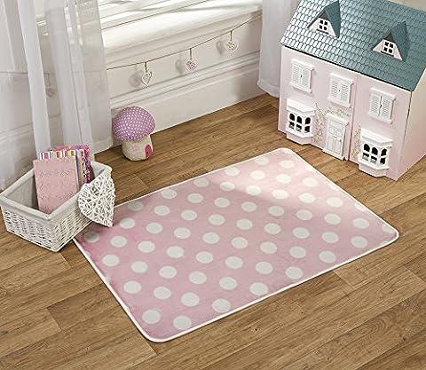 Flair Rugs Teppich für Kinderzimmer, bedruckt, Punkte, Print Polka Dots