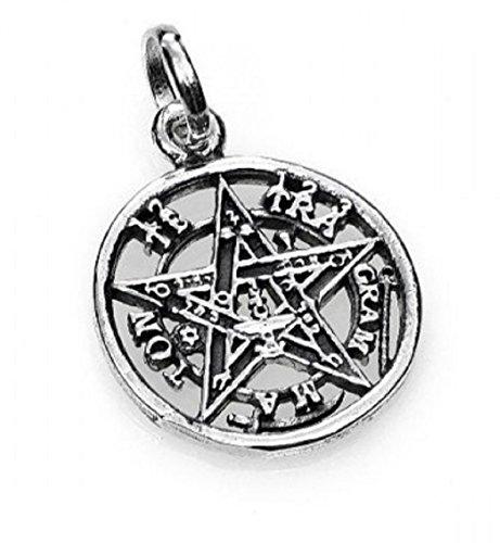 Colgante Tetragramaton plata. Diámetro 1.5 cm