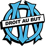 Stickersnews - Stickers foot OM Olympique de Marseille Dimensions - 5x5cm...